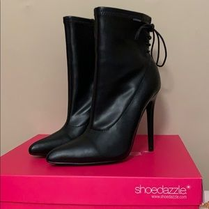 Shoedazzle Faux Leather Booties